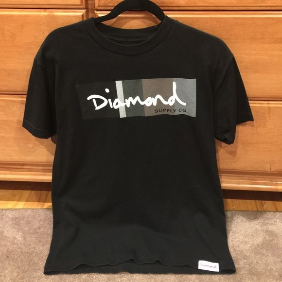 Diamond Supply Co. Mens T-Shirt Diamond Supply Co. Mens Medium T-Shirt (Black) Diamond Supply Company Tops Tees - Short Sleeve