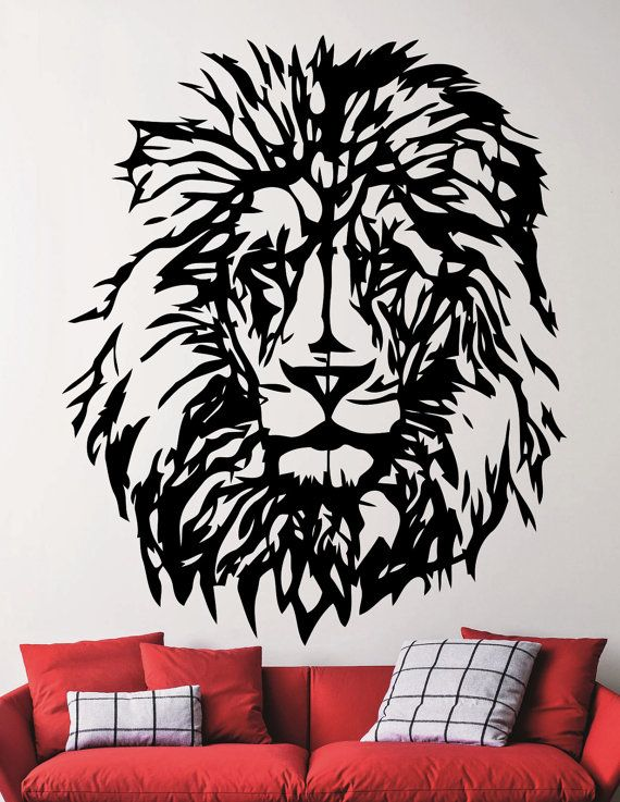Lion Decal Lion Wall Sticker African Animal Modern Home Design Etsy Wall Sticker Wall Decals African Animals