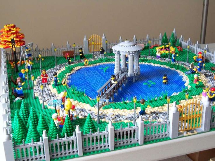 17 best images about lego landscapes on pinterest for Lego garden pool