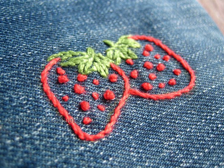 what is french knot embroidery - Google Search Strawberry Pinterest Mor...