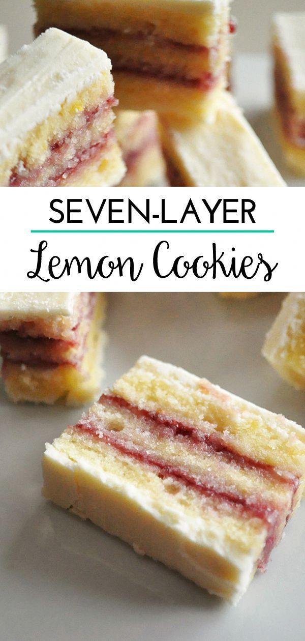 Lemon Seven-Layer Cookies #cookierecipes