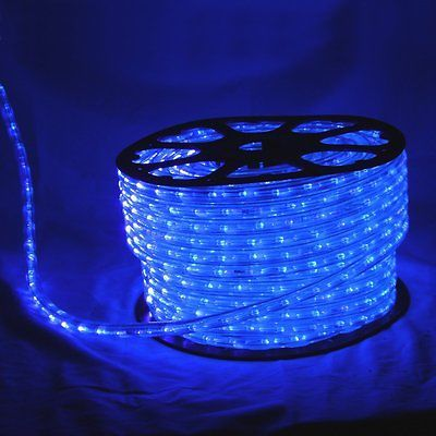 Wide Loyal 150' Roll Flexilight LED Blue Outdoor Rope Light