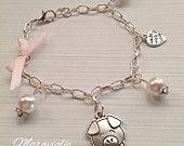 Pink Alice in Wonderland Charm Bracelet Bracciale di Maraviglie
