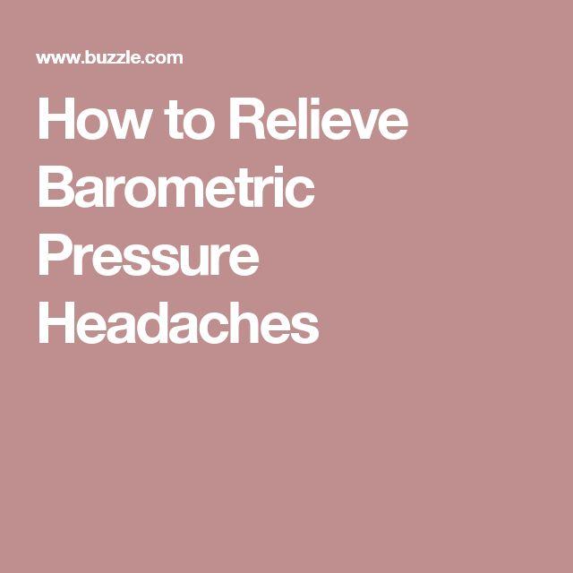 Natural Remedies For Barometric Pressure