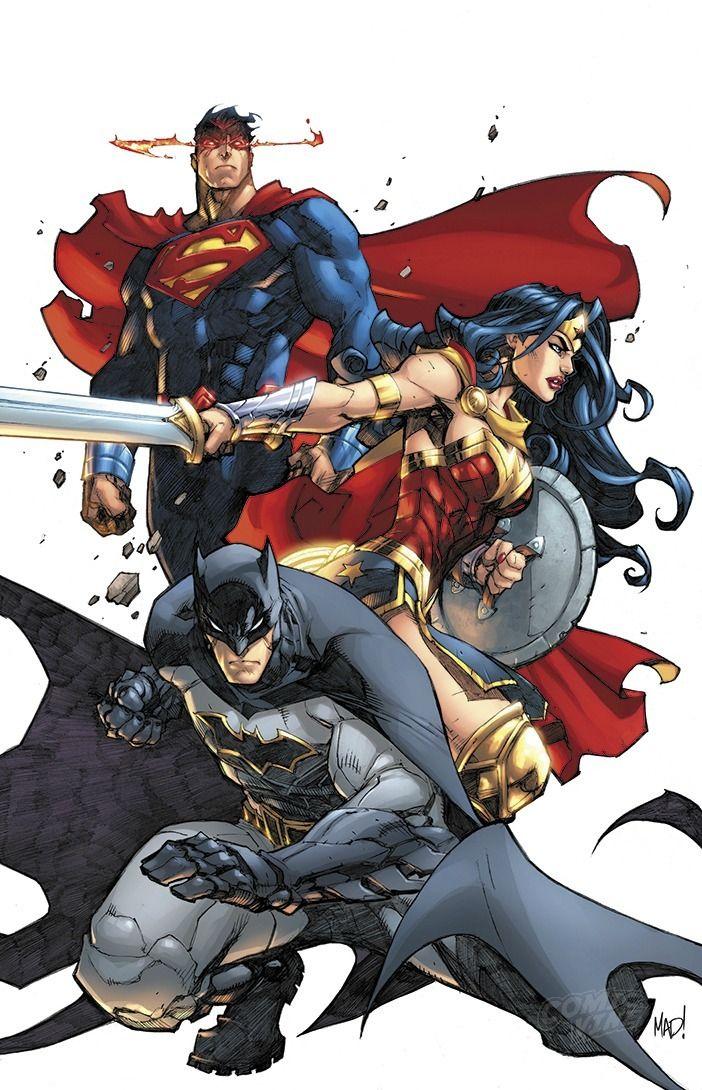 Justice League Rebirth #1 variant cover by Joe Madureira