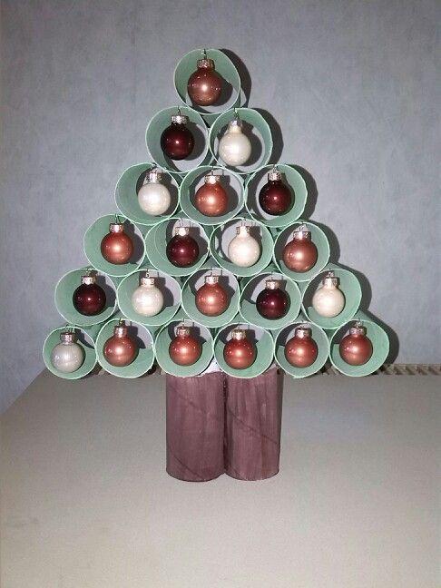 Wc Rol Kerstboom Behangplaksel Door Verf Mengen