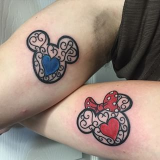 And these more ornate markings: | 21 Disney Couple Tattoos Your Heart Will Dream About