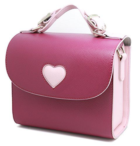 Woodmin Fuji film Instax Mini Camera Case Love Bag For Fujifilm Instax Mini 7s, Mini 8, Mini 25, Mini 50s,Mini 90---Purple