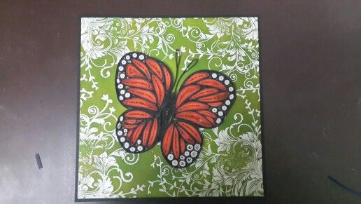 Monarch butterfly quilling... one of my favourites...