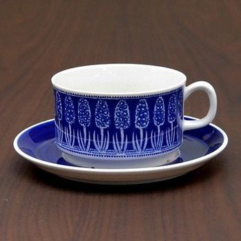 Blå Hyacint teacup & saucer - Gefle Porslin