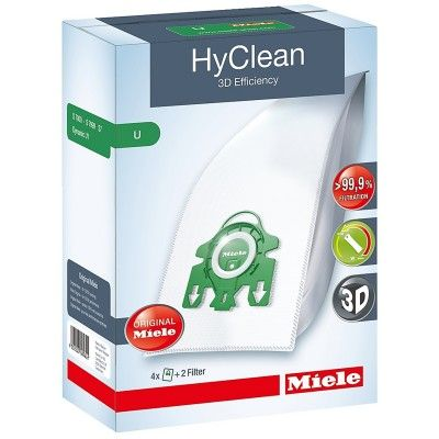 Miele HyClean 3D Efficiency U Dust Bag Pack (4 Dust Bags + 2 Filters) #Miele #HyClean #DustBag #AtlanticElectrics