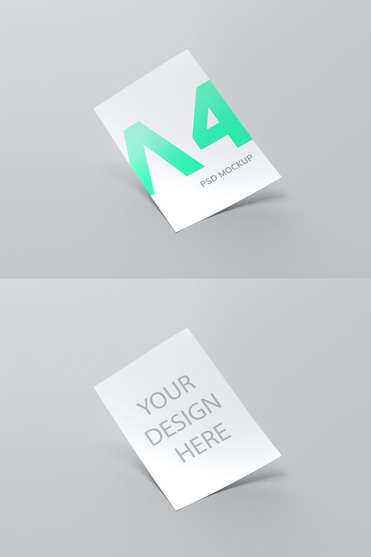 A4 Paper Free Psd Mockup In 2021 Mockup Free Psd Mockup Psd Free Psd