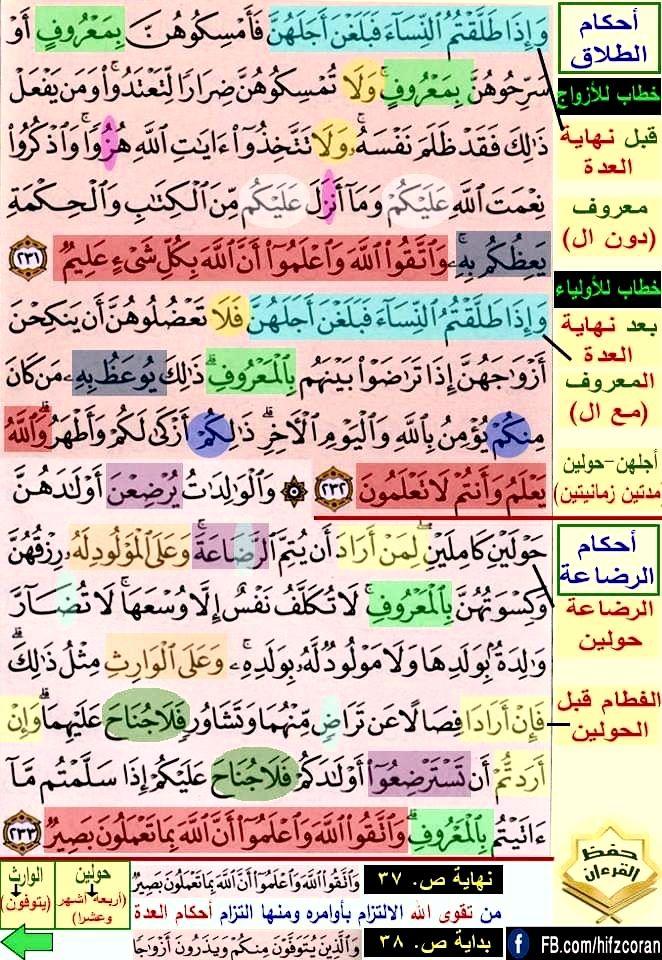تثبيت حفظ سورة البقرة صفحة ٣٧ In 2021 Quran Verses Verses Quran