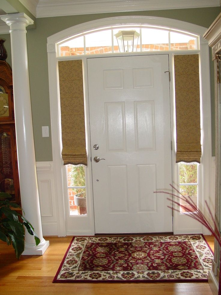 Basic Sidelight Blinds Ideas In 2020 Front Doors With Windows Front Door Side Windows Sidelight Curtains