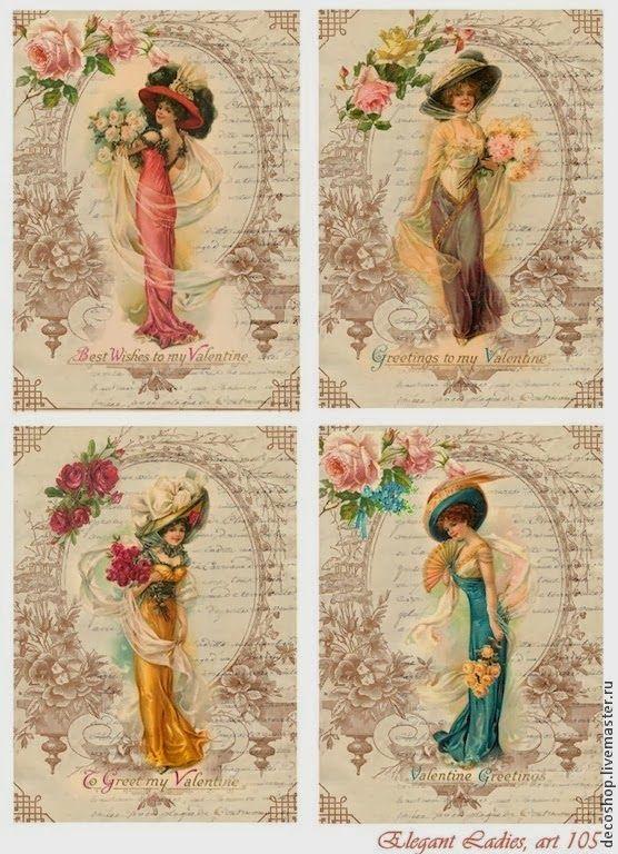 essas e outras imagens com pegada vintage. A.R.  o site original é papirolas coloridas.