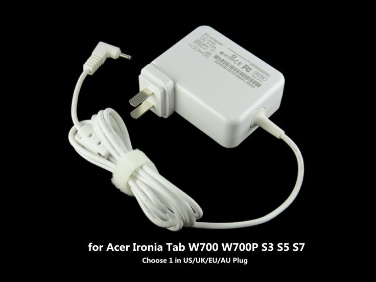 65W laptop AC power adapter for Acer Ironia Tab W700 W700P S3 S5 S7 portable US/UK/EU/AU Plug 19V 3.42A