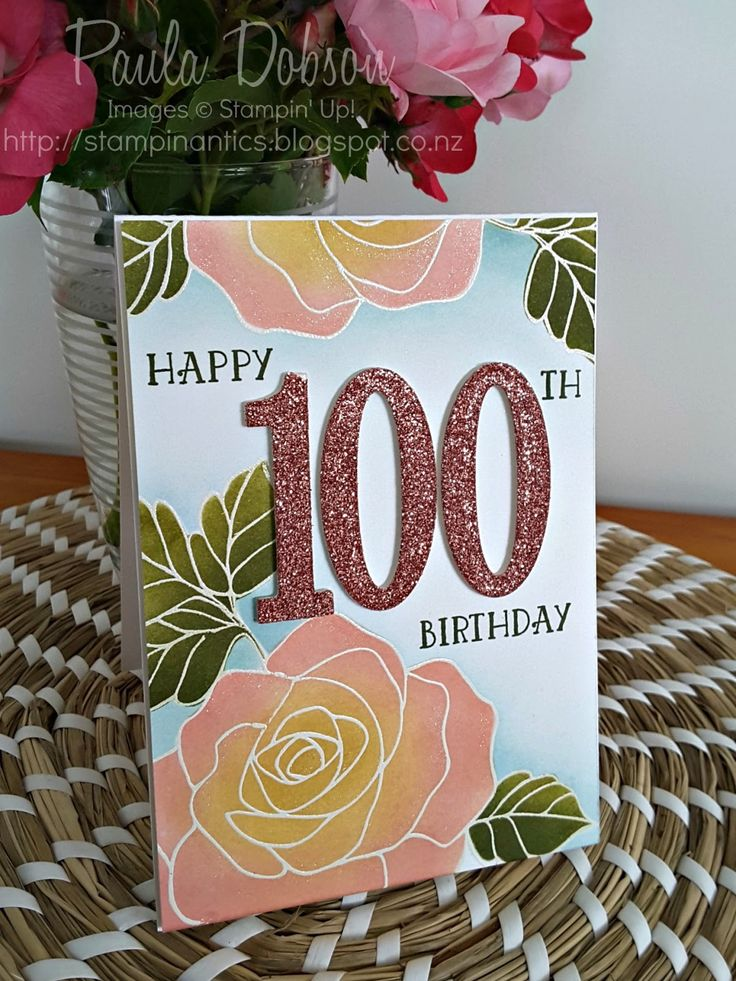 Paula Dobson, Stampinantics, Number of Years, Rose Wonder, #stampin'up! #agedbirthday