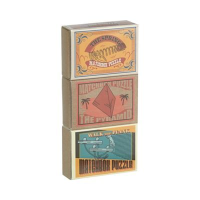 From The Spring to the Pyramid and Walk the Plank, this set includes three fun games that will satisfy any keen puzzle solver. A great gift idea.