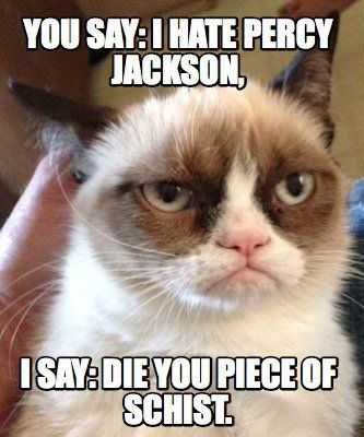 Meme Maker - You say: I hate percy jackson, I say: Die you piece ...