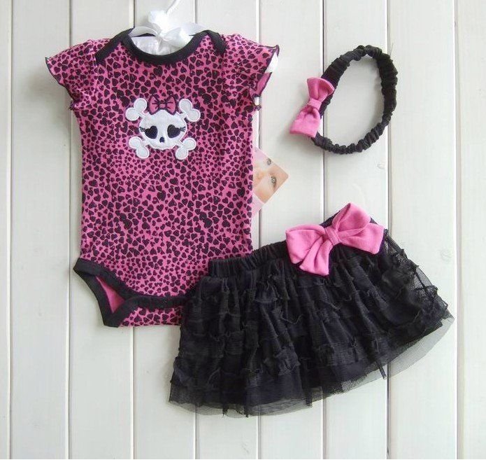 rompers baby girl s fashion leopard skull one piece cotton