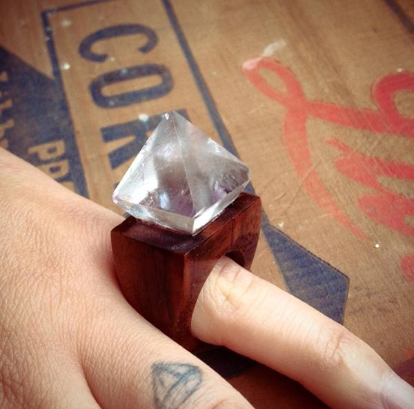 Bold Handmade Rings From Glass Tower