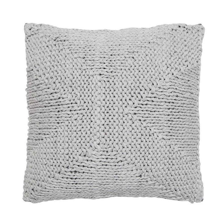 Grey Knit X Cushion
