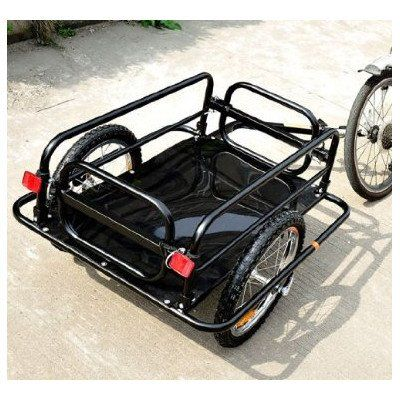 Bike Cargo Trailers - Aosom Wanderer Bicycle Bike Cargo  Luggage Trailer  Black Black ** To view further for this item, visit the image link.