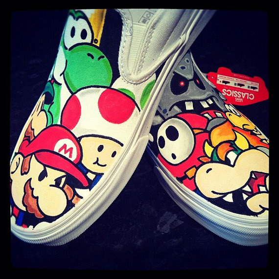 I like the cartoon style and hand-drawn look these shoes have. Custom Painted Vans Shoes Source: Pinterest