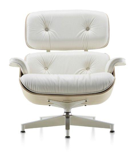 White Eames armchair