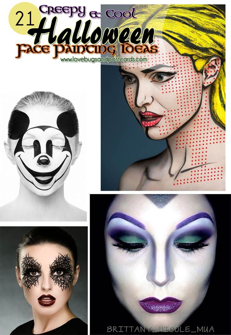 21 creepy and cool halloween face painting ideas - Easy Halloween Ideas