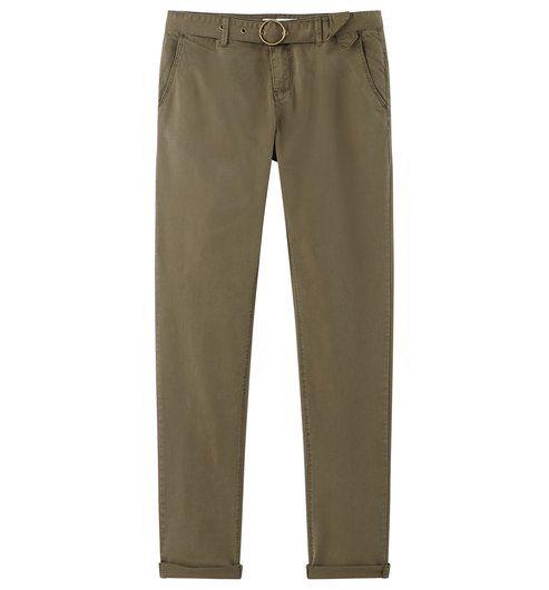 Pantalon en toile Femme kaki - Promod