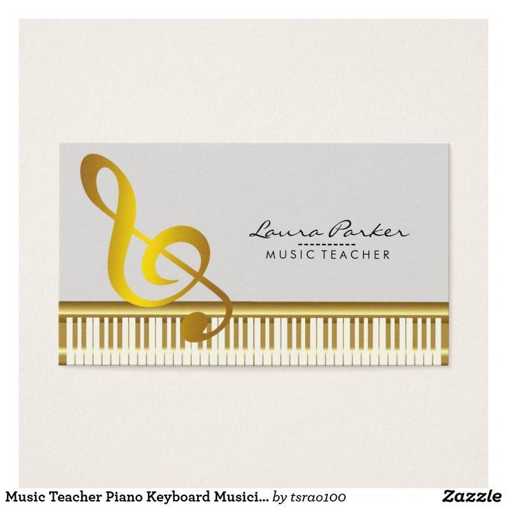 32 best Music Business Card for Music Teacher, DJ, Musician images ...