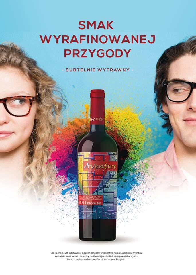 """Nowość na rynku reklamowana jako wino dla kochających odkrywanie nowych smaków. Próbował ktoś? Ja jestem ogromnie ciekawa wrażeń. Jak tylko spróbuję, podzielę się z Wami moją opinią. Tymczasem ruszam na poszukiwania tej """"wyrafinowanej przygody"""" :) #aventure"""
