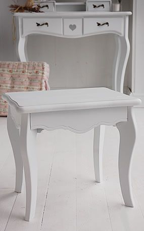 Heart Cottage White Bedroom Furniture   Dressing Table Stool