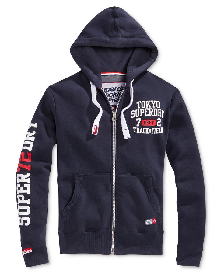 Superdry Men's Trackster Graphic-Print Logo Hoodie - Hoodies & Sweatshirts - Men - Macy's
