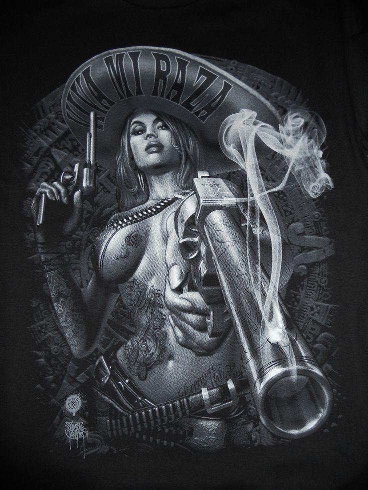 """VIVA MI RAZA"" MEXICAN CHARRA T-SHIRT."