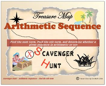 Scavenger Hunt {School/Home/Stations}-Arithmetic Sequence
