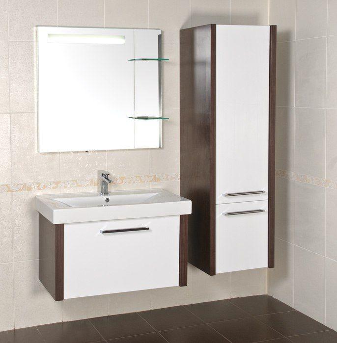 Компактность и удобность  В маленьком пространстве ванной комнаты можно обустроить функциональный пенал, который не занимает много места и помогает в быту. Больше выбора: http://santehnika-tut.ru/mebel-dlya-vannoj/penaly/ #дизайн #интерьер #стиль #ванная #сантехника #плитка