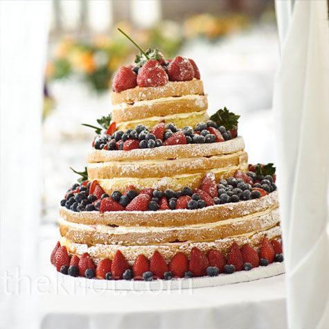 Fresh Berry Unfrosted Cake: Naked Cakes, Cakes Ideas, Summer Wedding, Tall Cakes, Fruit Cakes, Wedding Cakes, Summer Cakes, Unfrost Cakes, Berries