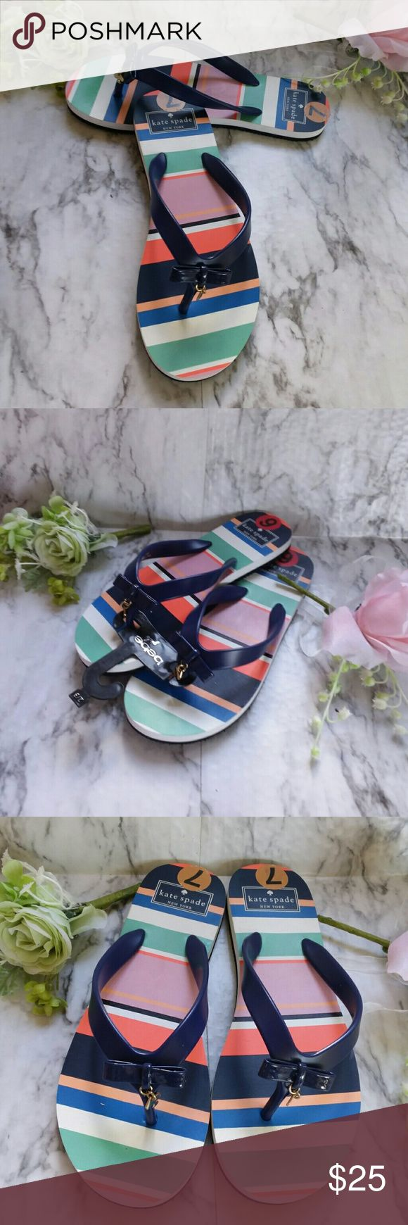 Kate Spade Tropical Stripe Flip Flop Shoes Size 7 This is a new pair of Kate Spade tropical stripe flip flops. They are size 7. They are new without tags. kate spade Shoes Flats & Loafers