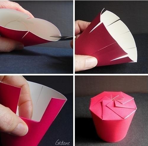 manualidad con niños cajjitas chuches2 Manualidad, cajitas a partir de un vaso de papel