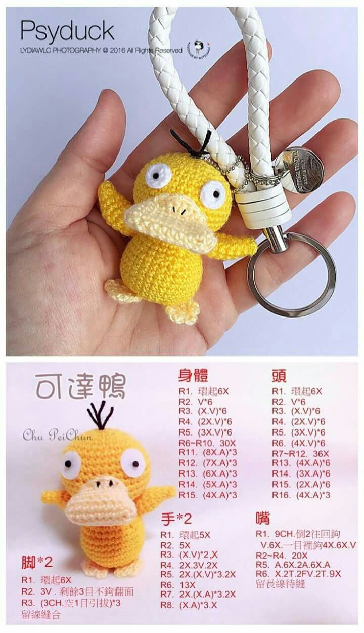 Free crochet pattern duck