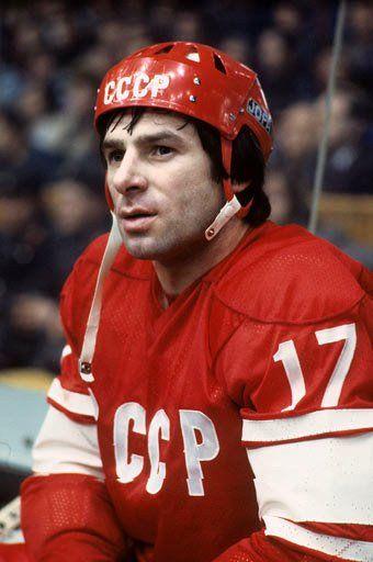 Soviet hockey star Valeri Kharlamov in a JOFA helmet of course...