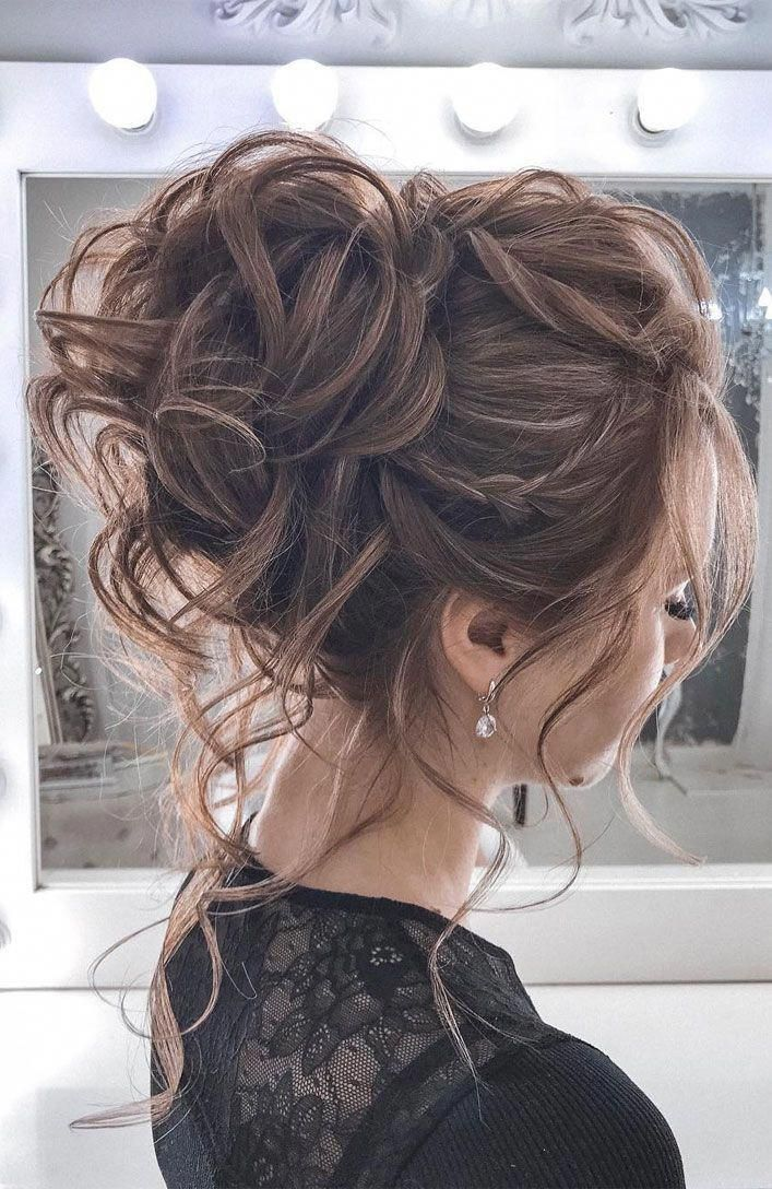 44 Romantic Messy updo hairstyles for medium length to long hair - messy updo hairstyle for elegant look, hairstyle ideas , updo, wedding updo hairsty...