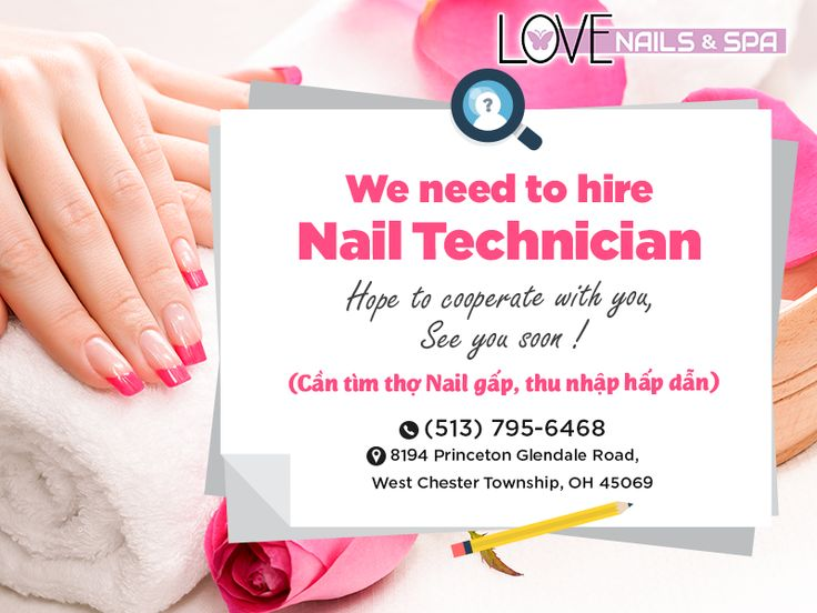 We're now hiring Nail Techs in West Chester Township, Ohio