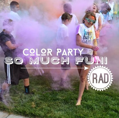 Fun Color Party Idea Perfect For Teenagers And Really Inexpensive