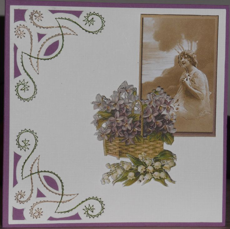 Card with sheet 181 from The Owlhouse Designs and a embroiderypattern