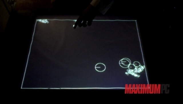 Maximum PC's Multitouch Surface Computer. Video by Maximum PC.