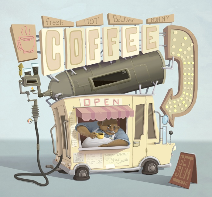 Dave Armstrong presents: mildly enjoyable artwork: Coffee Truck