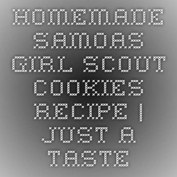 Homemade Samoas Girl Scout Cookies Recipe | Just a Taste